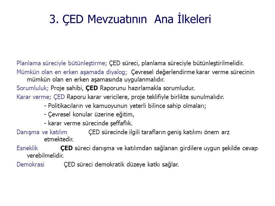 3. ÇED Mevzuatının Ana İlkeleri