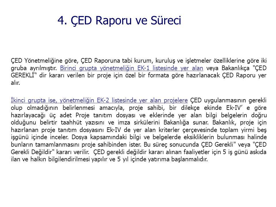 4. ÇED Raporu ve Süreci