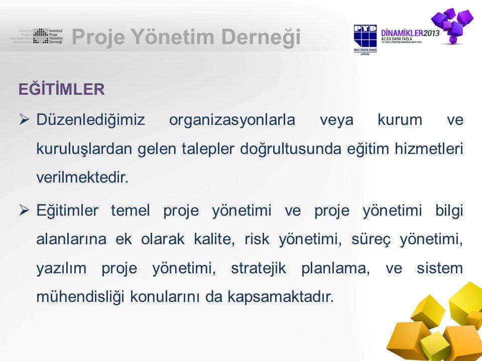 Proje Yönetim Derneği EĞİTİMLER