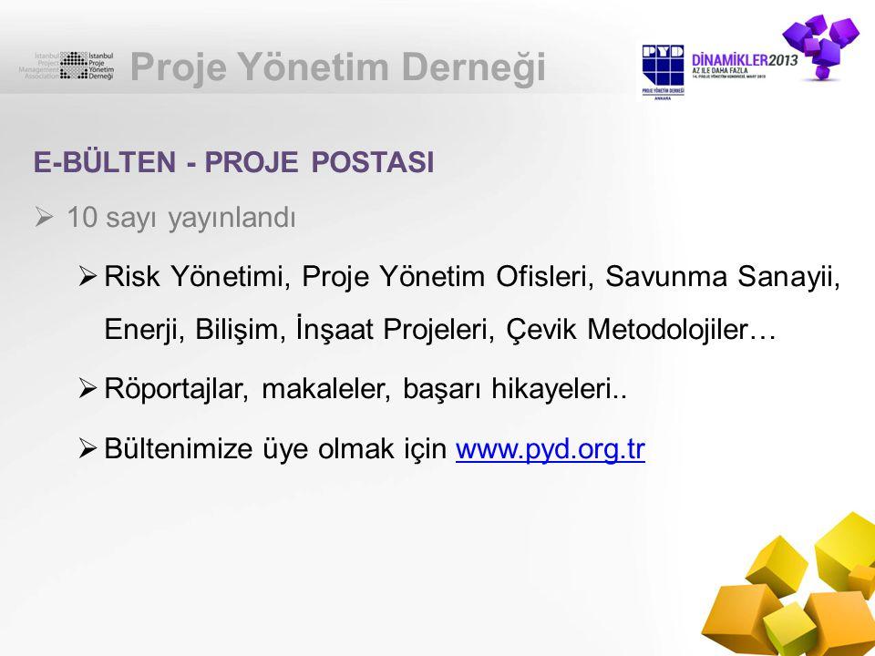 Proje Yönetim Derneği E-BÜLTEN - PROJE POSTASI 10 sayı yayınlandı