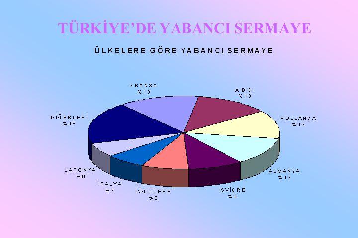 TÜRKİYE'DE YABANCI SERMAYE