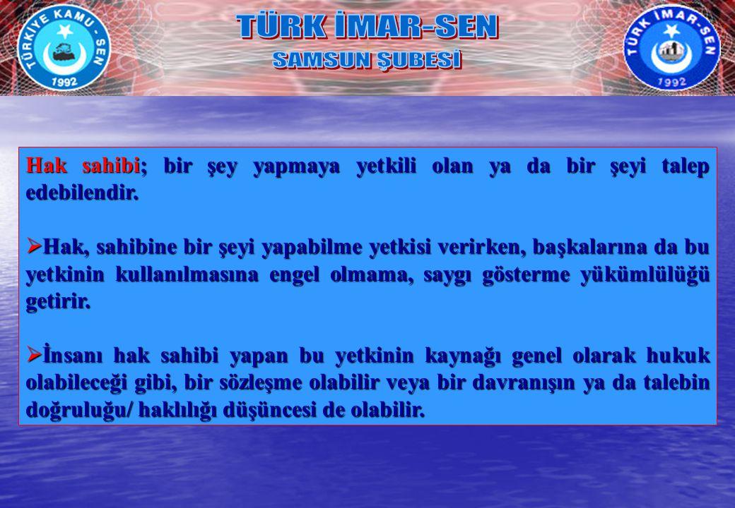 TÜRK İMAR-SEN SAMSUN ŞUBESİ