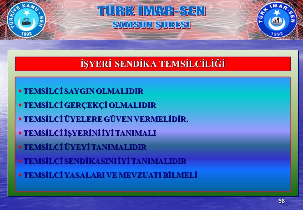 İŞYERİ SENDİKA TEMSİLCİLİĞİ