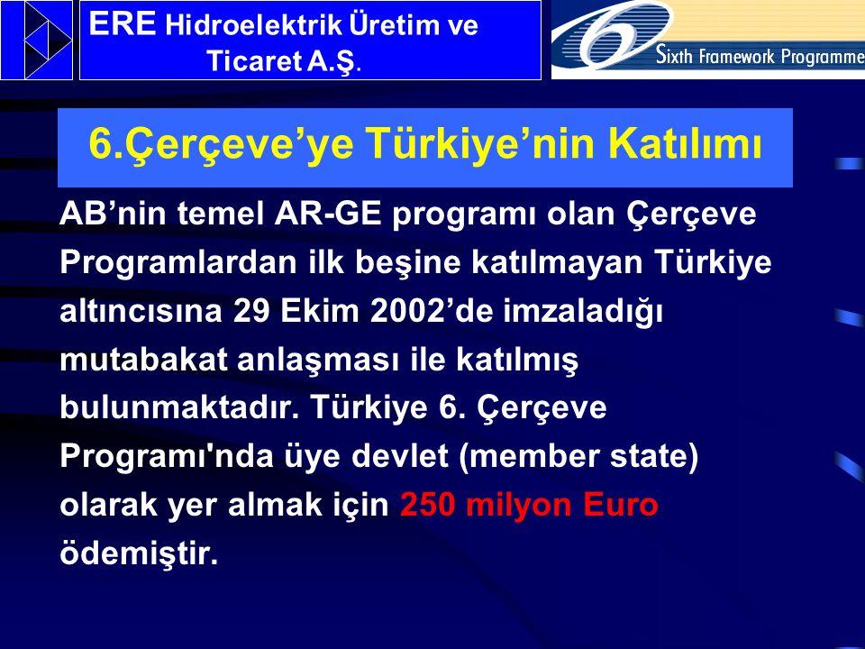 6.Çerçeve'ye Türkiye'nin Katılımı