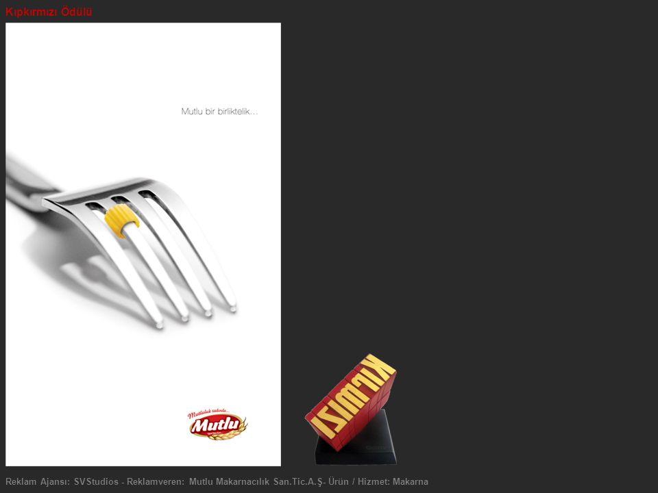 Kıpkırmızı Ödülü Reklam Ajansı: SVStudios - Reklamveren: Mutlu Makarnacılık San.Tic.A.Ş- Ürün / Hizmet: Makarna.