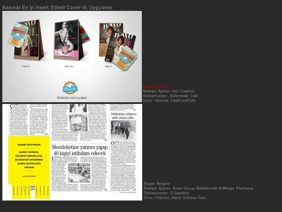 Basında En iyi Insert, Etiketi Cover vb. Uygulama