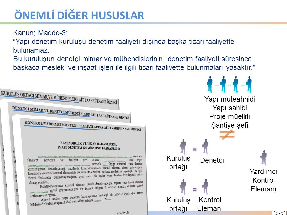 ÖNEMLİ DİĞER HUSUSLAR Kanun; Madde-3: