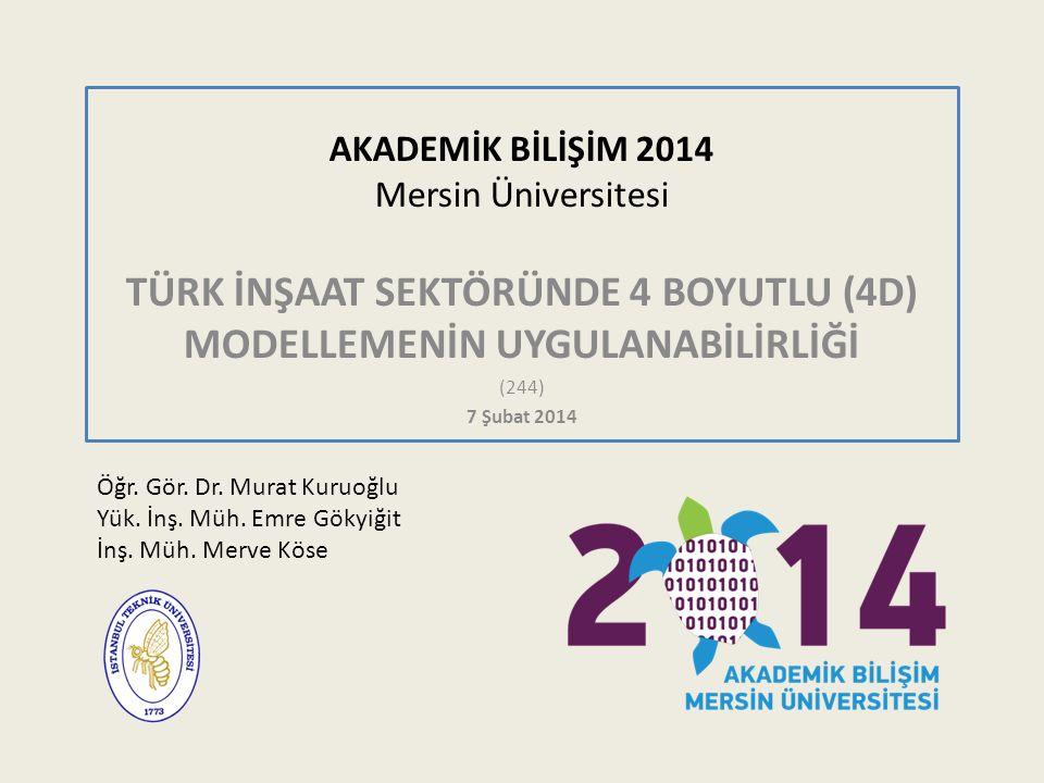 AKADEMİK BİLİŞİM 2014 Mersin Üniversitesi