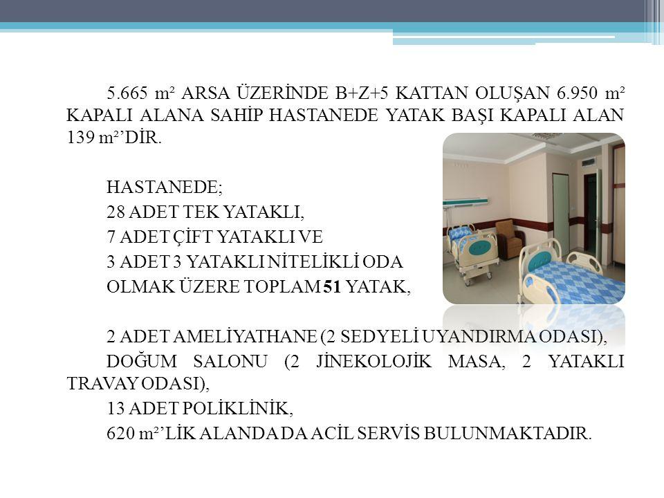 5. 665 m² ARSA ÜZERİNDE B+Z+5 KATTAN OLUŞAN 6