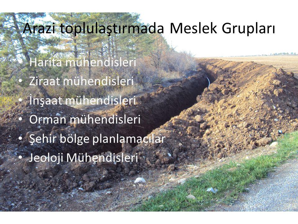 Arazi toplulaştırmada Meslek Grupları