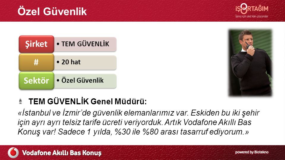 Özel Güvenlik TEM GÜVENLİK Genel Müdürü: