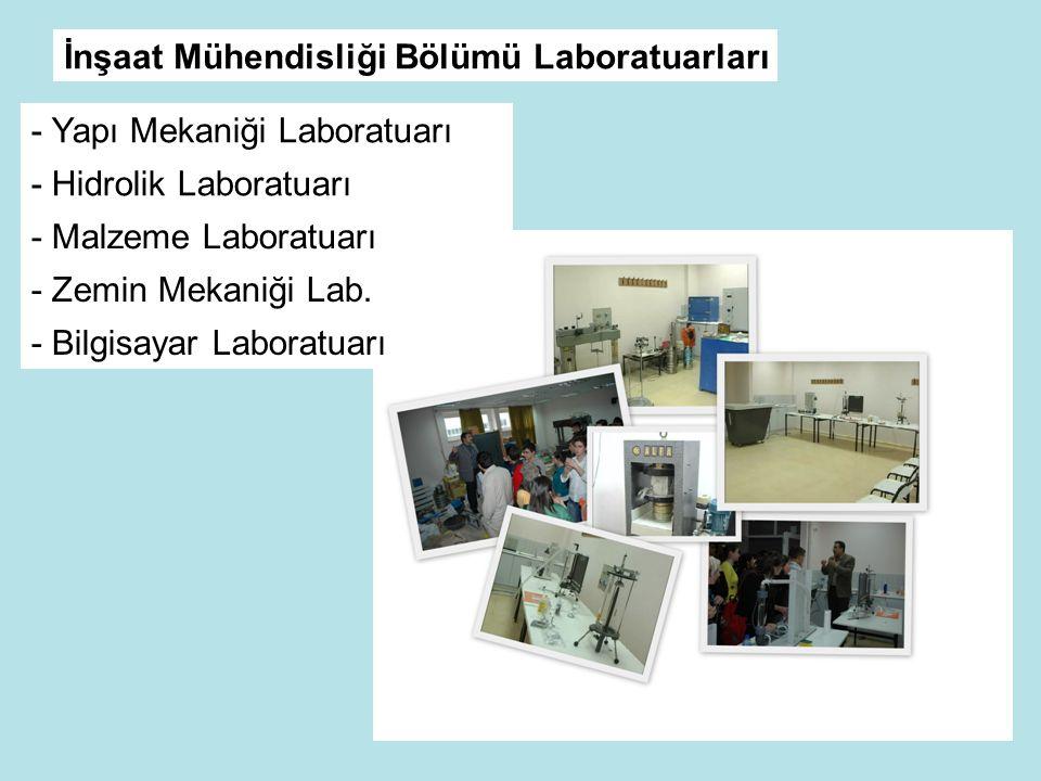 İnşaat Mühendisliği Bölümü Laboratuarları