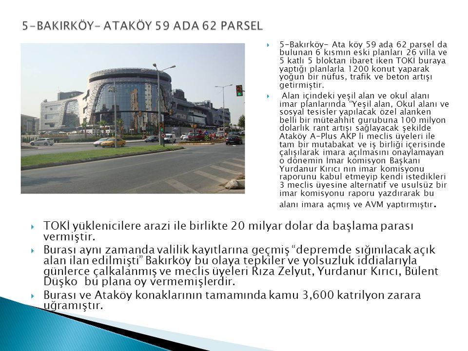 5-BAKIRKÖY- ATAKÖY 59 ADA 62 PARSEL