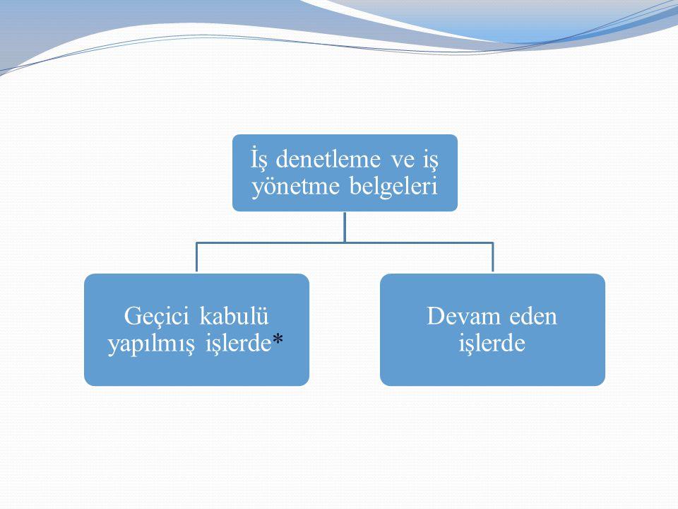 İş denetleme ve iş yönetme belgeleri