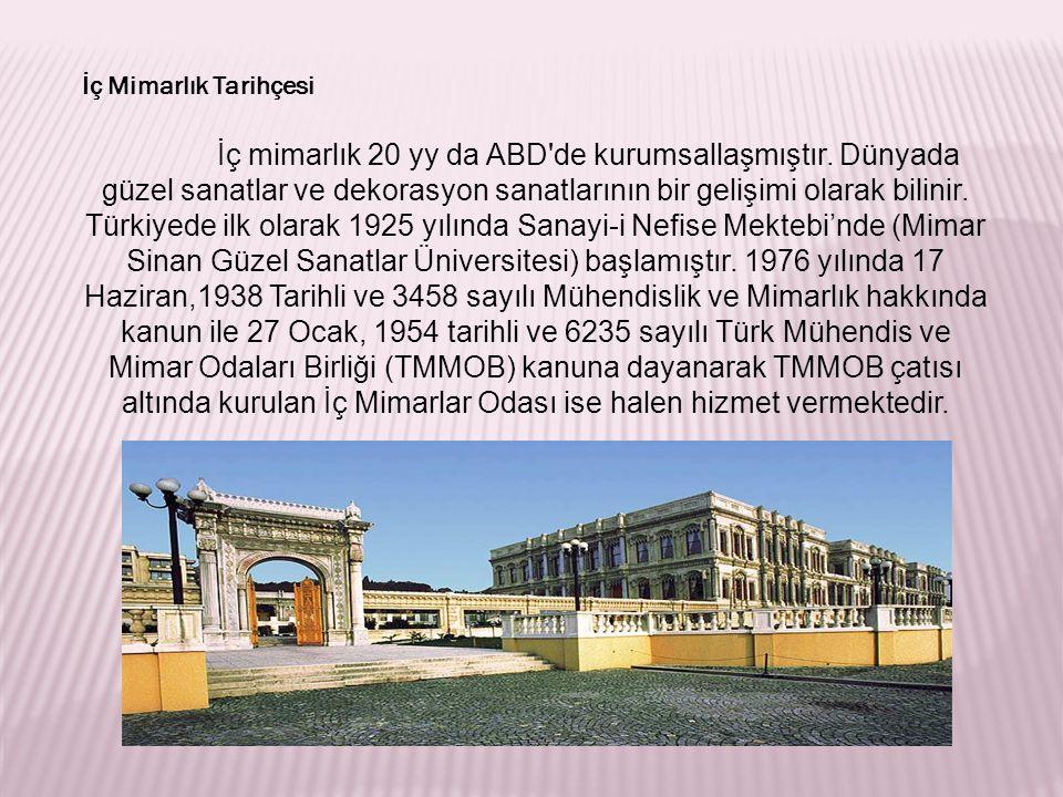 İç Mimarlık Tarihçesi