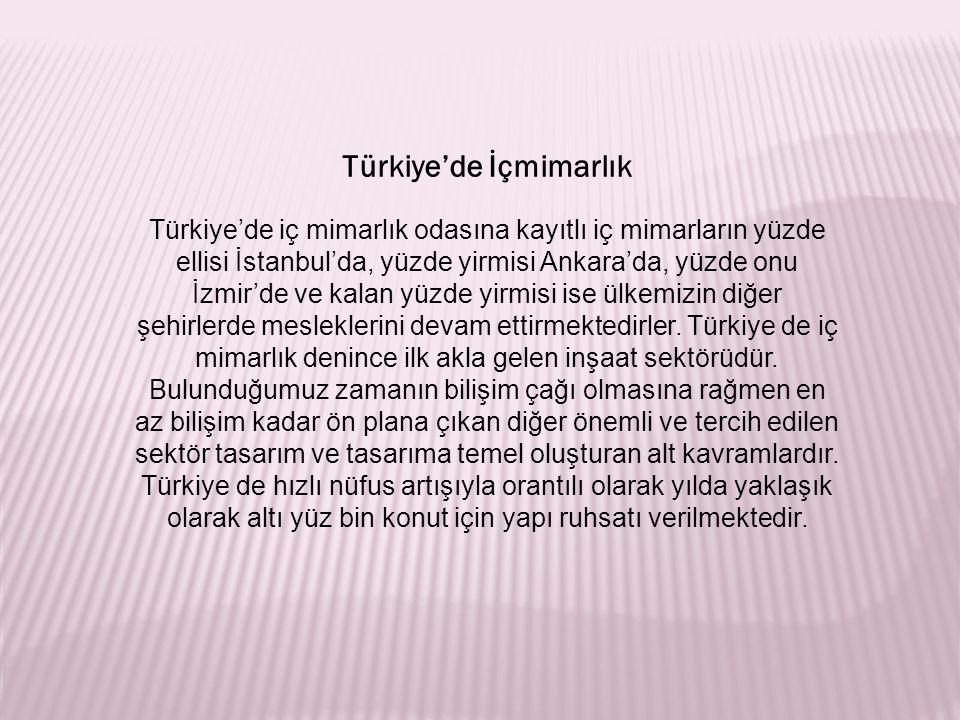 Türkiye'de İçmimarlık
