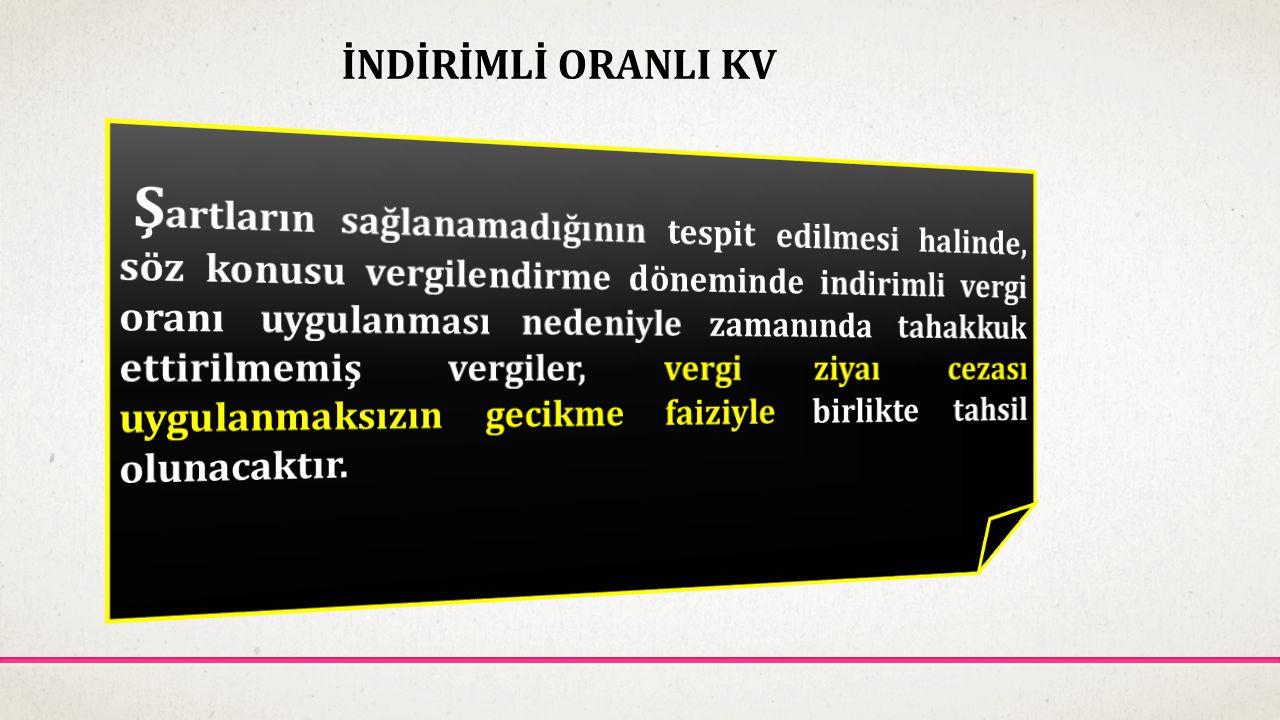 İNDİRİMLİ ORANLI KV