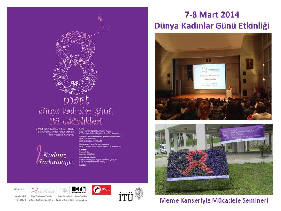 7-8 Mart 2014 Dünya Kadınlar Günü Etkinliği