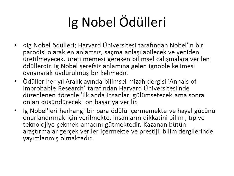 Ig Nobel Ödülleri