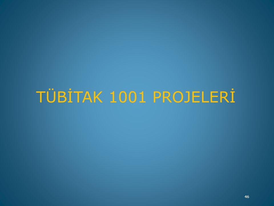 TÜBİTAK 1001 PROJELERİ