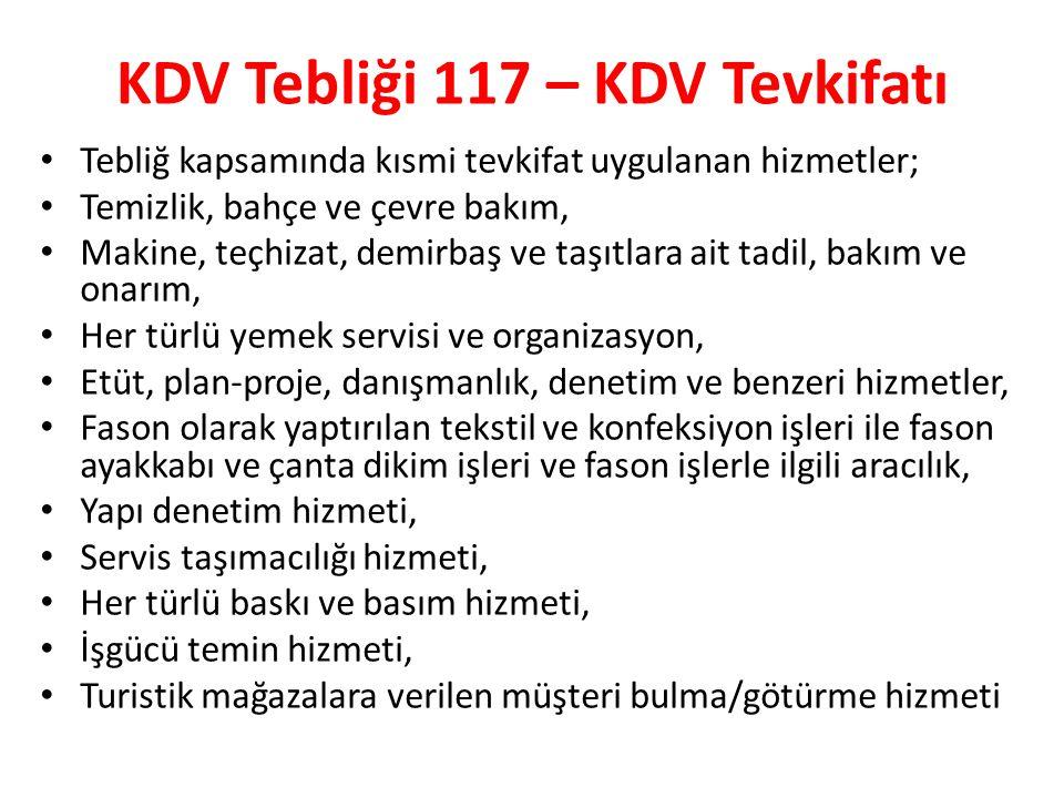 KDV Tebliği 117 – KDV Tevkifatı