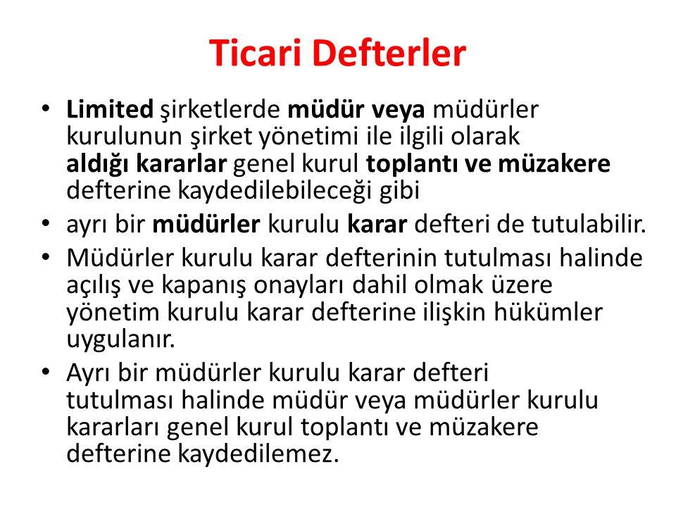 Ticari Defterler
