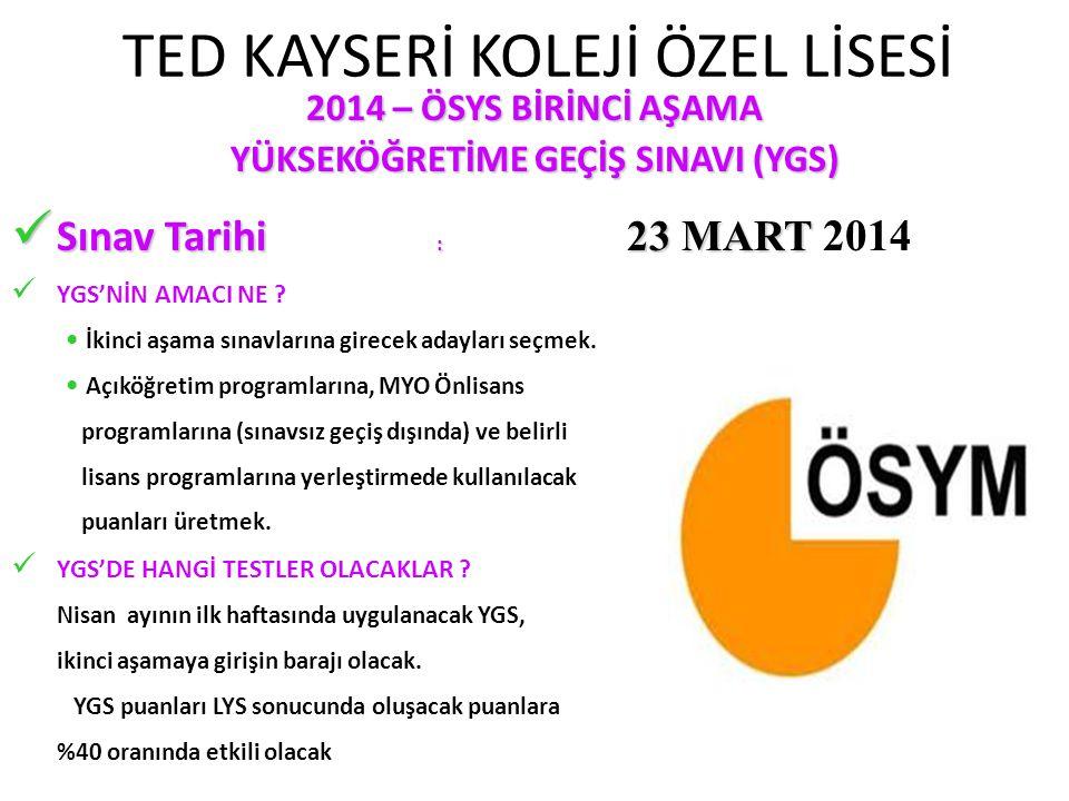 TED KAYSERİ KOLEJİ ÖZEL LİSESİ