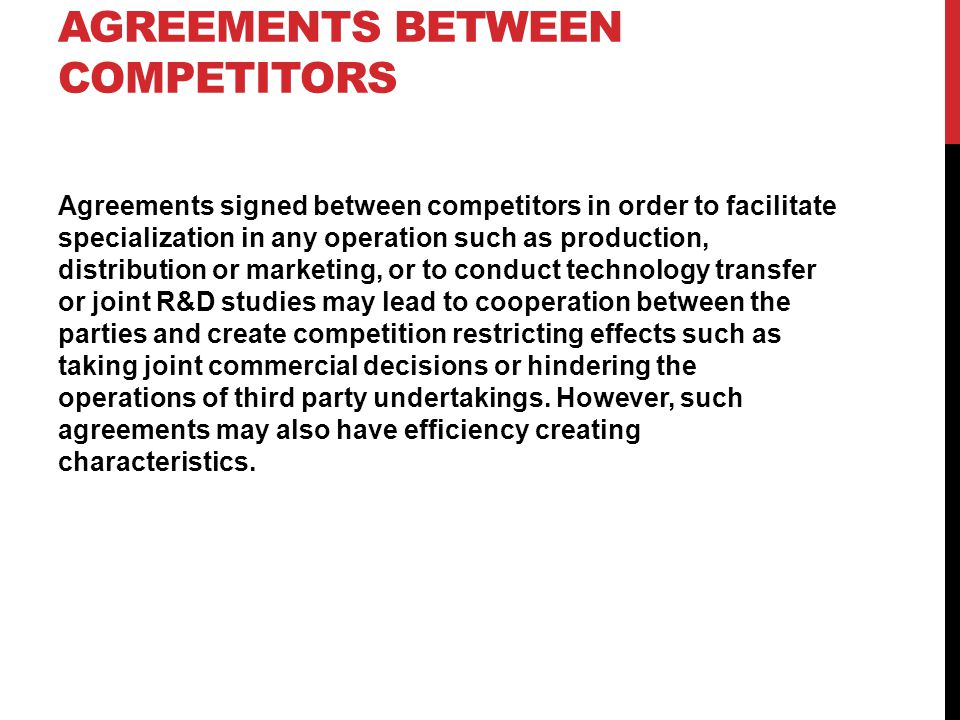 Agreements between competitors