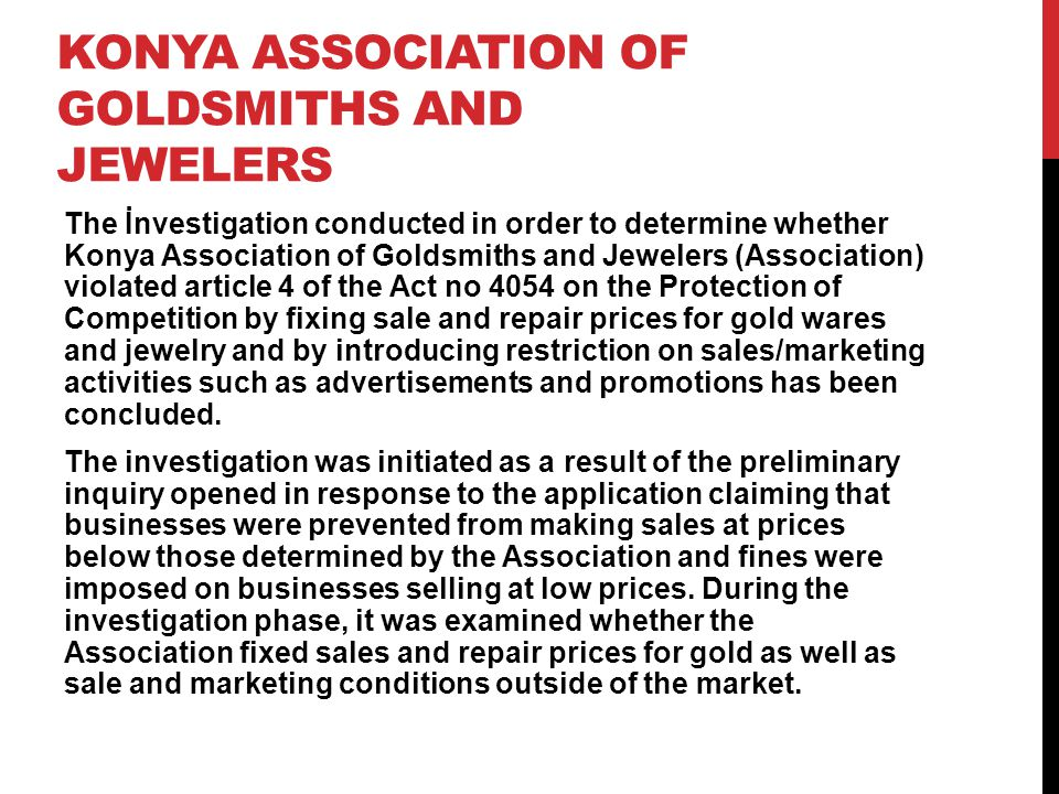 KONYA Association of Goldsmiths and Jewelers