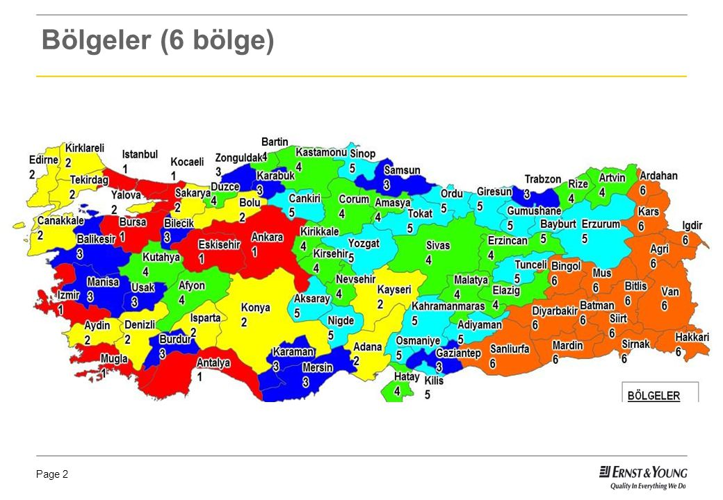 Bölgeler (6 bölge)