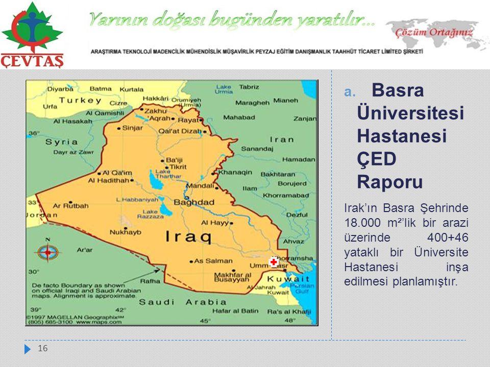 Basra Üniversitesi Hastanesi ÇED Raporu