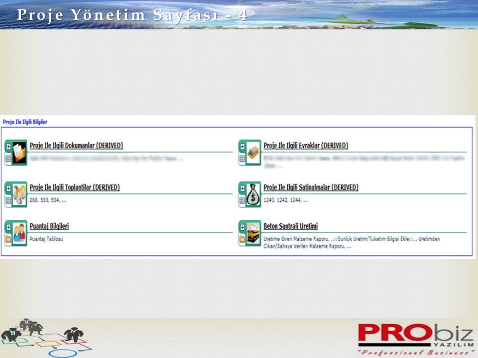 Proje Yönetim Sayfası - 4
