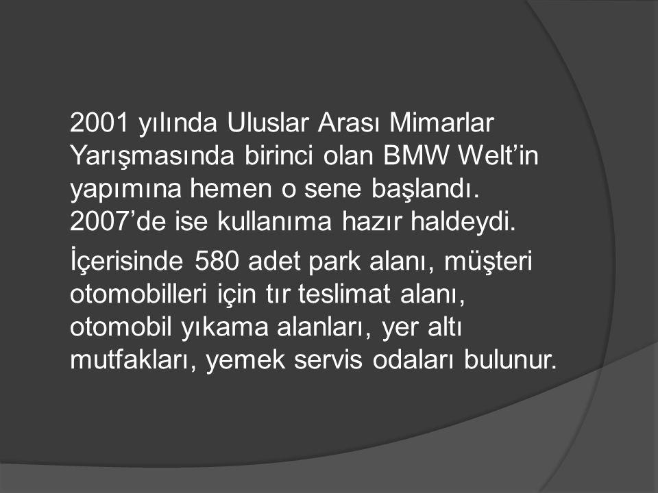 2001 yılında Uluslar Arası Mimarlar Yarışmasında birinci olan BMW Welt'in yapımına hemen o sene başlandı.
