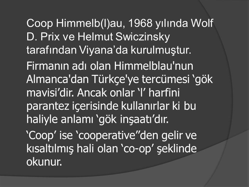 Coop Himmelb(l)au, 1968 yılında Wolf D