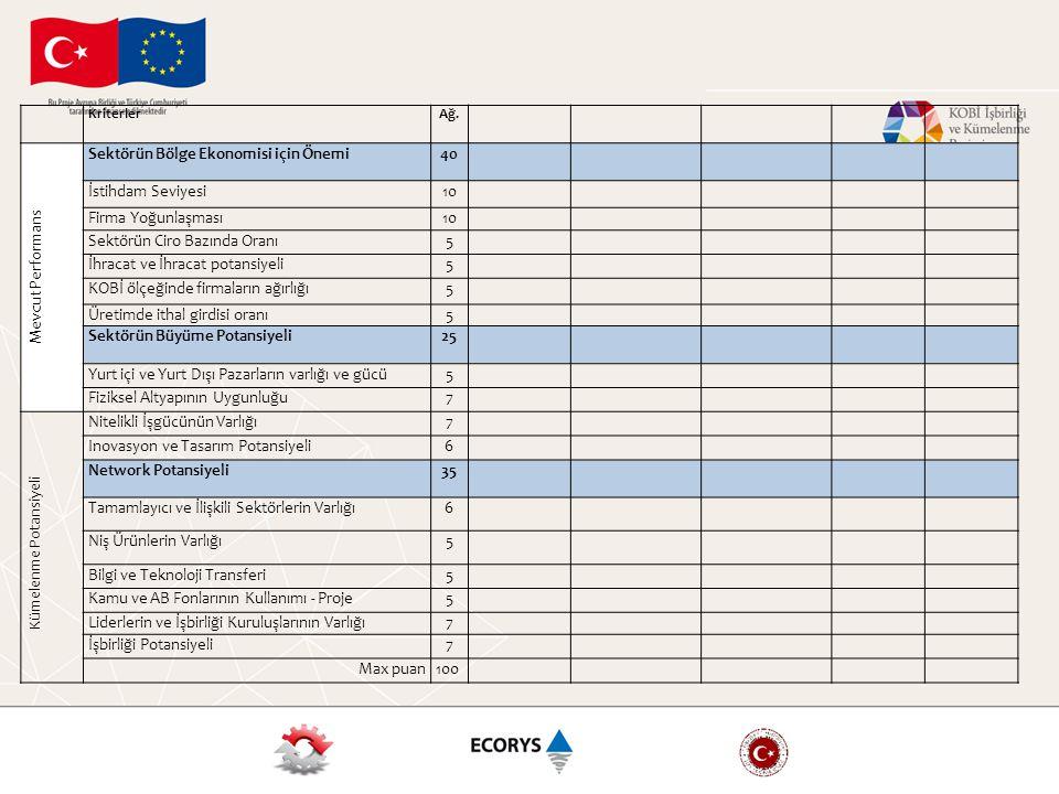 Sektörün Bölge Ekonomisi için Önemi 40 İstihdam Seviyesi 10