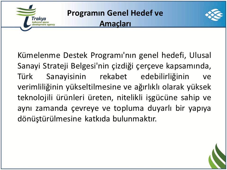 Programın Genel Hedef ve Amaçları