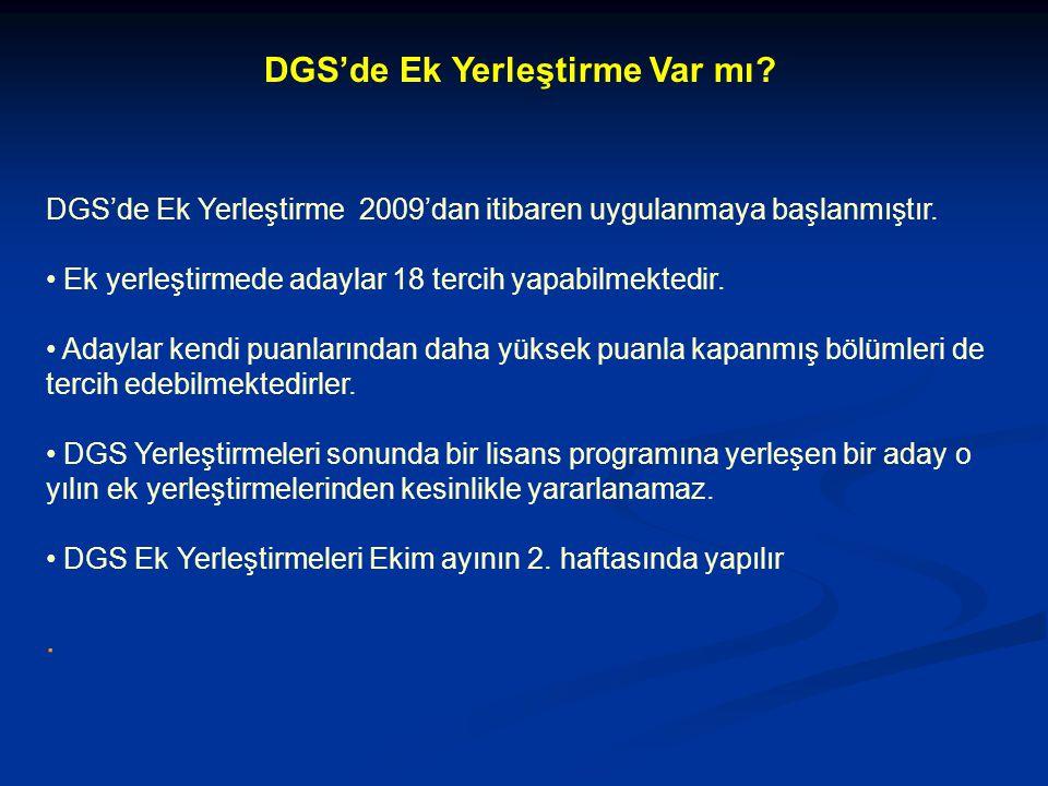 DGS'de Ek Yerleştirme Var mı