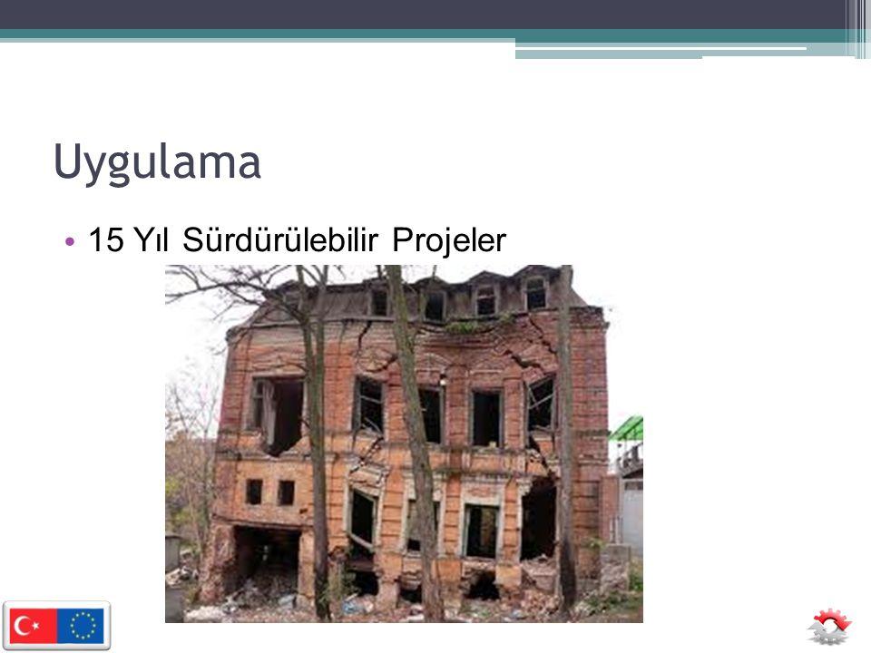 Uygulama 15 Yıl Sürdürülebilir Projeler