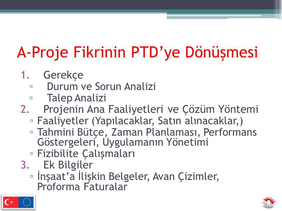 A-Proje Fikrinin PTD'ye Dönüşmesi