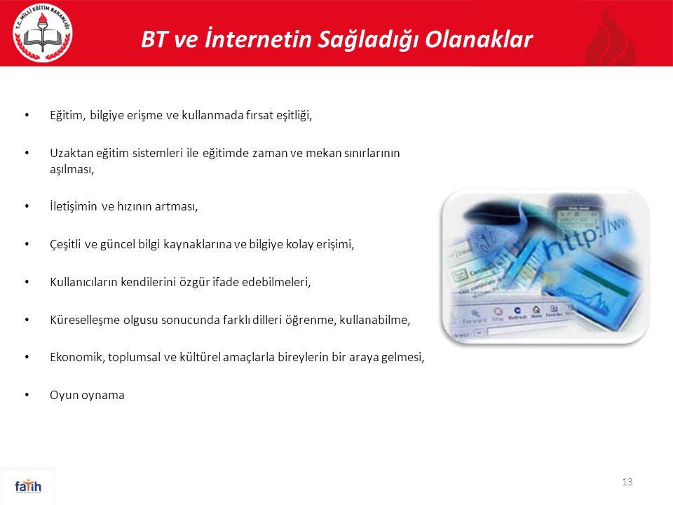 BT ve İnternetin Sağladığı Olanaklar