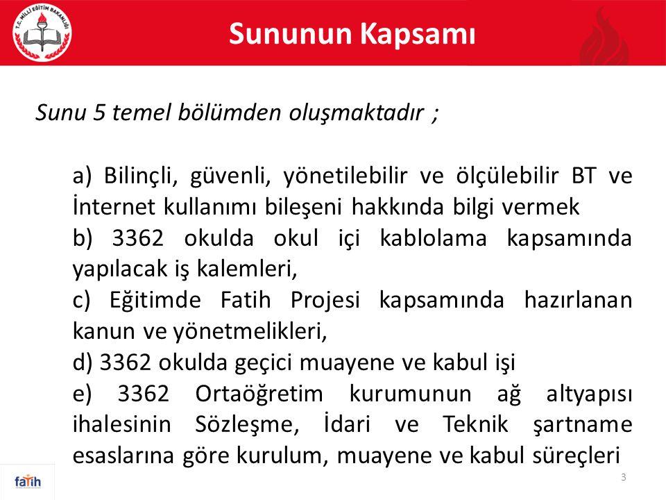 Sununun Kapsamı Sunu 5 temel bölümden oluşmaktadır ;