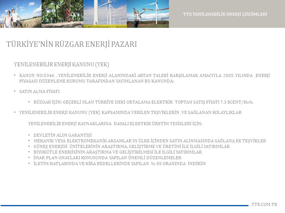 TÜRKİYE'NİN RÜZGAR ENERJİ PAZARI