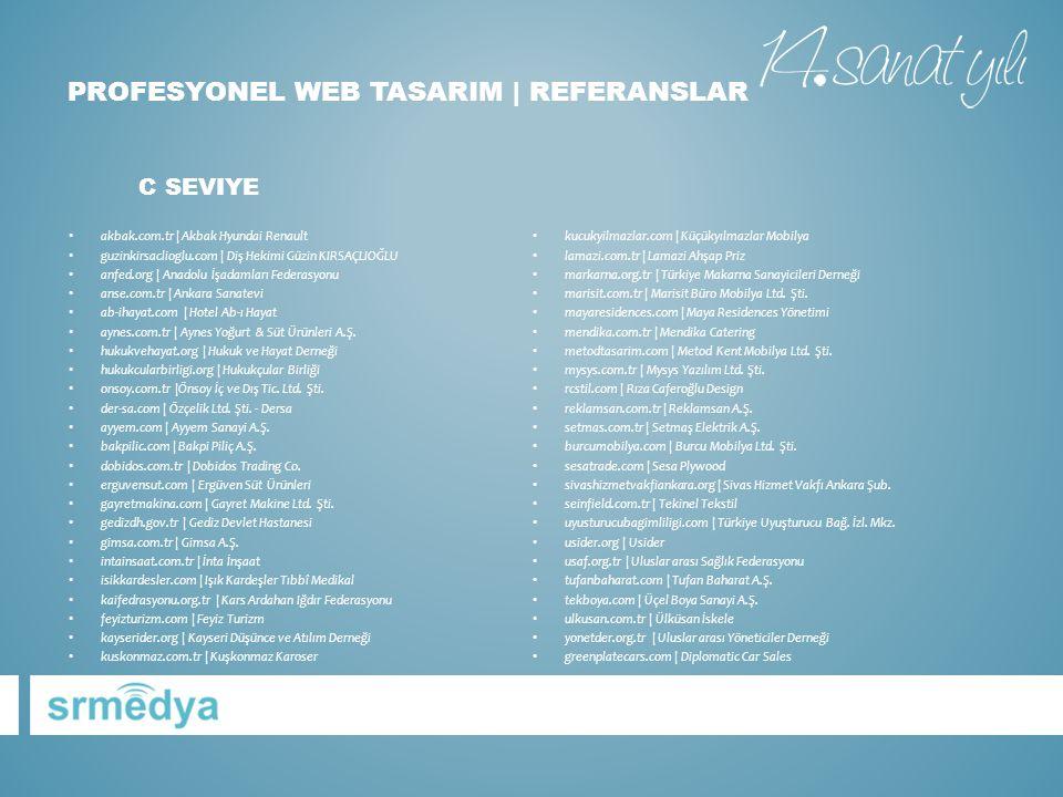 PROFESYONEL WEB TASARIM | referanslar