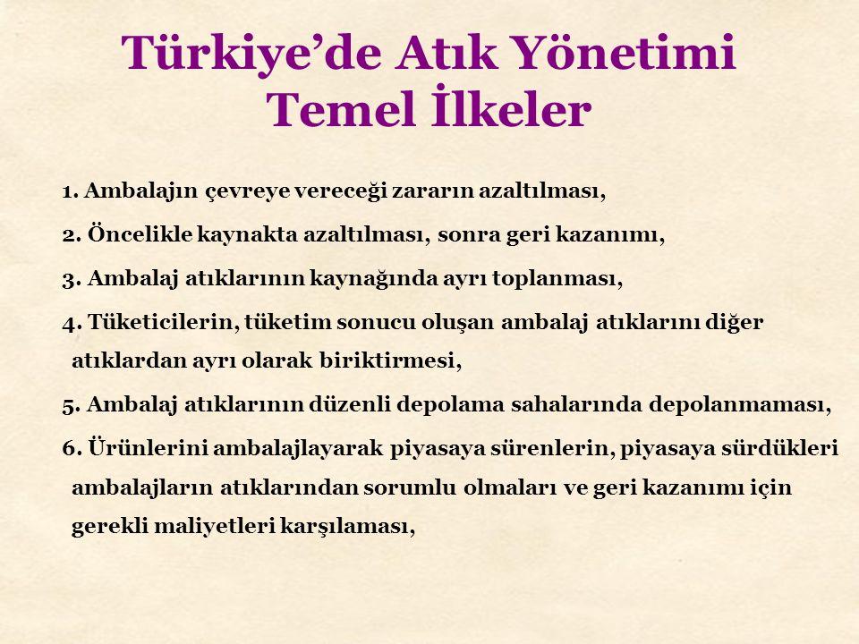 Türkiye'de Atık Yönetimi Temel İlkeler
