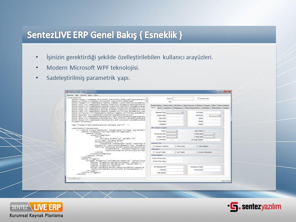 SentezLIVE ERP Genel Bakış { Esneklik }