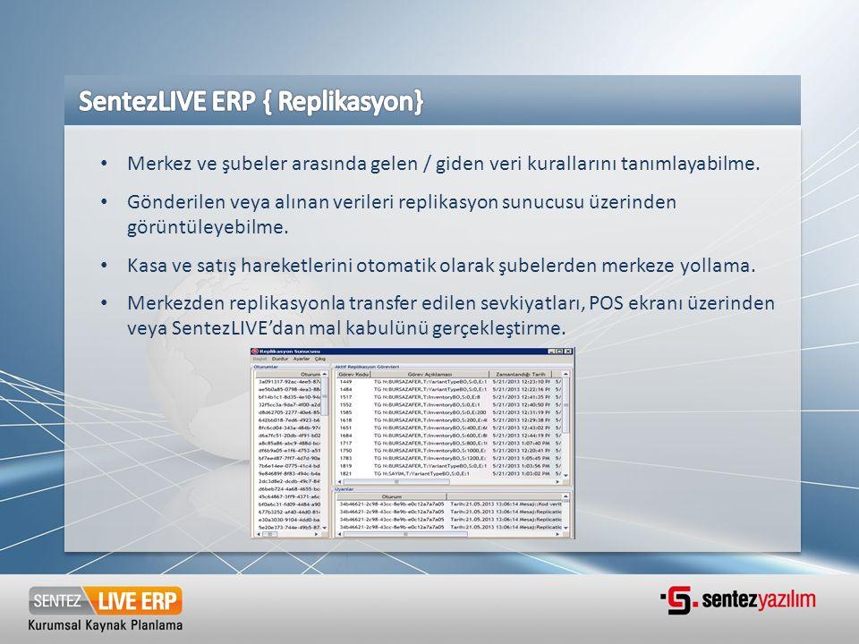 SentezLIVE ERP { Replikasyon}