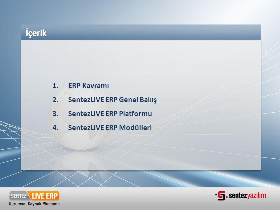 İçerik ERP Kavramı SentezLIVE ERP Genel Bakış SentezLIVE ERP Platformu