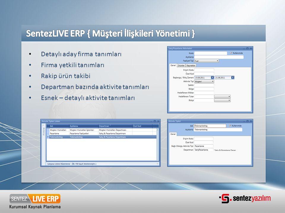 SentezLIVE ERP { Müşteri İlişkileri Yönetimi }