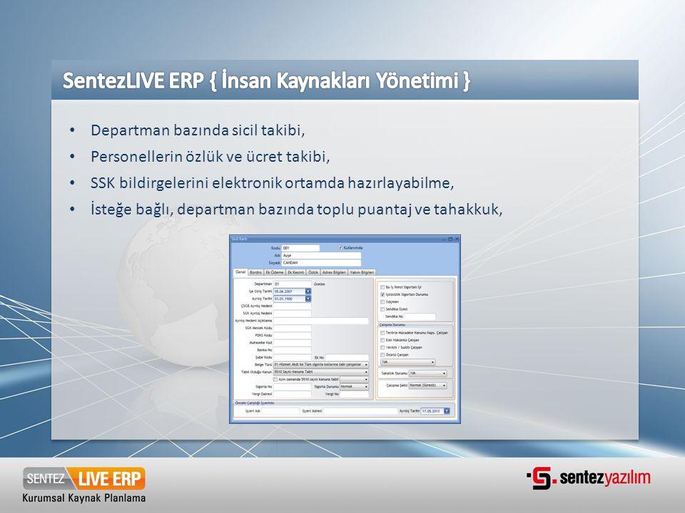 SentezLIVE ERP { İnsan Kaynakları Yönetimi }