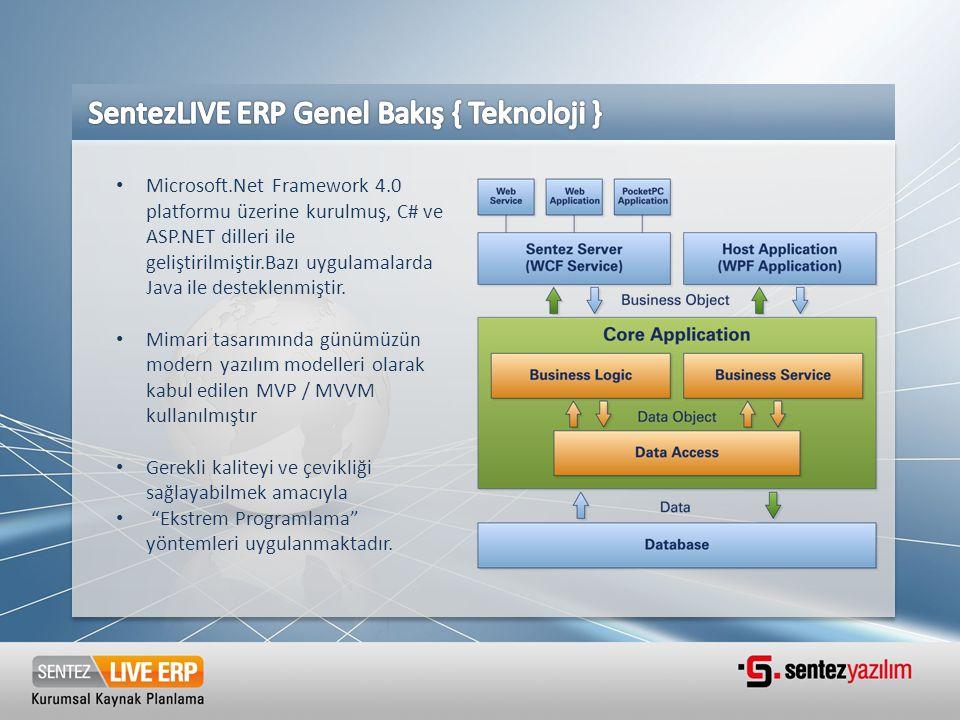 SentezLIVE ERP Genel Bakış { Teknoloji }